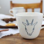 【村田亜希】さん、かわいい山羊や鹿柄のうつわが新入荷!